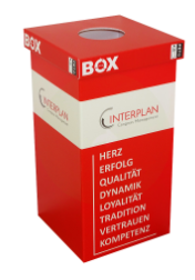 Recyclingboxen für Lanyards